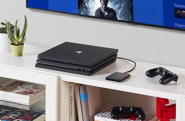 Seagate slapped a PlayStation logo on a hard drive to match your PS4