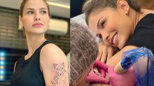 Andressa Suita faz tatuagem de leoa em homenagem aos filhos
