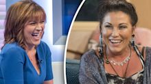 Jessie Wallace in giggling fit after Lorraine mishap