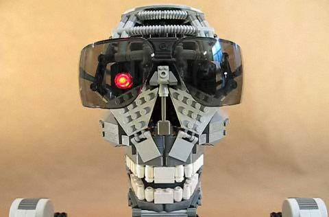Robot skull auditions for role in LEGO Terminator