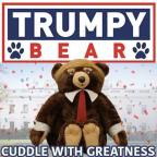 Trumpy Bear is back, inspiring zingers galore on social media and, company says, real-life death threats