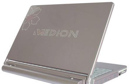 Medion SIM 2060 laptop iced out with 300 crystals