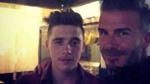David and Brooklyn Beckham Forced To Leave Pub After Welsh Fans Taunt Them On St. David's Day
