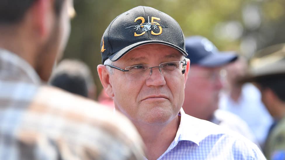 Scott Morrison's embarrassing gaffe while visiting devastated bushfire victims