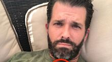 Don Jr. Shows Off Trump-Branded Camo Gear, Complete With A Weird Stain