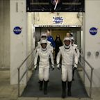 Astronauts ride to rocket before SpaceX launch