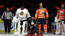 Matt Dumba speaks up for Hockey Diversity Alliance, kneels for U.S. national anthem