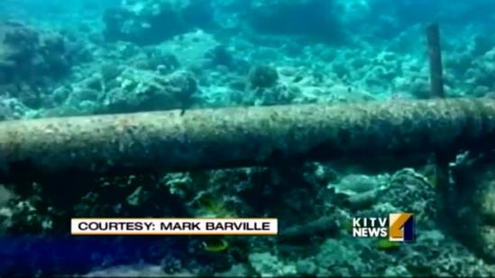 Underwater pipes off Kona to be removed