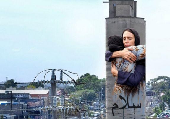 Controversial artwork of Jacinda Ardern ready to tower over Melbourne street