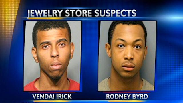 3 charged in jewelry store robbery, chase