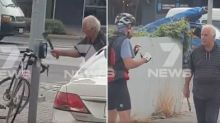 Cyclist threatened with axe in shocking road rage attack