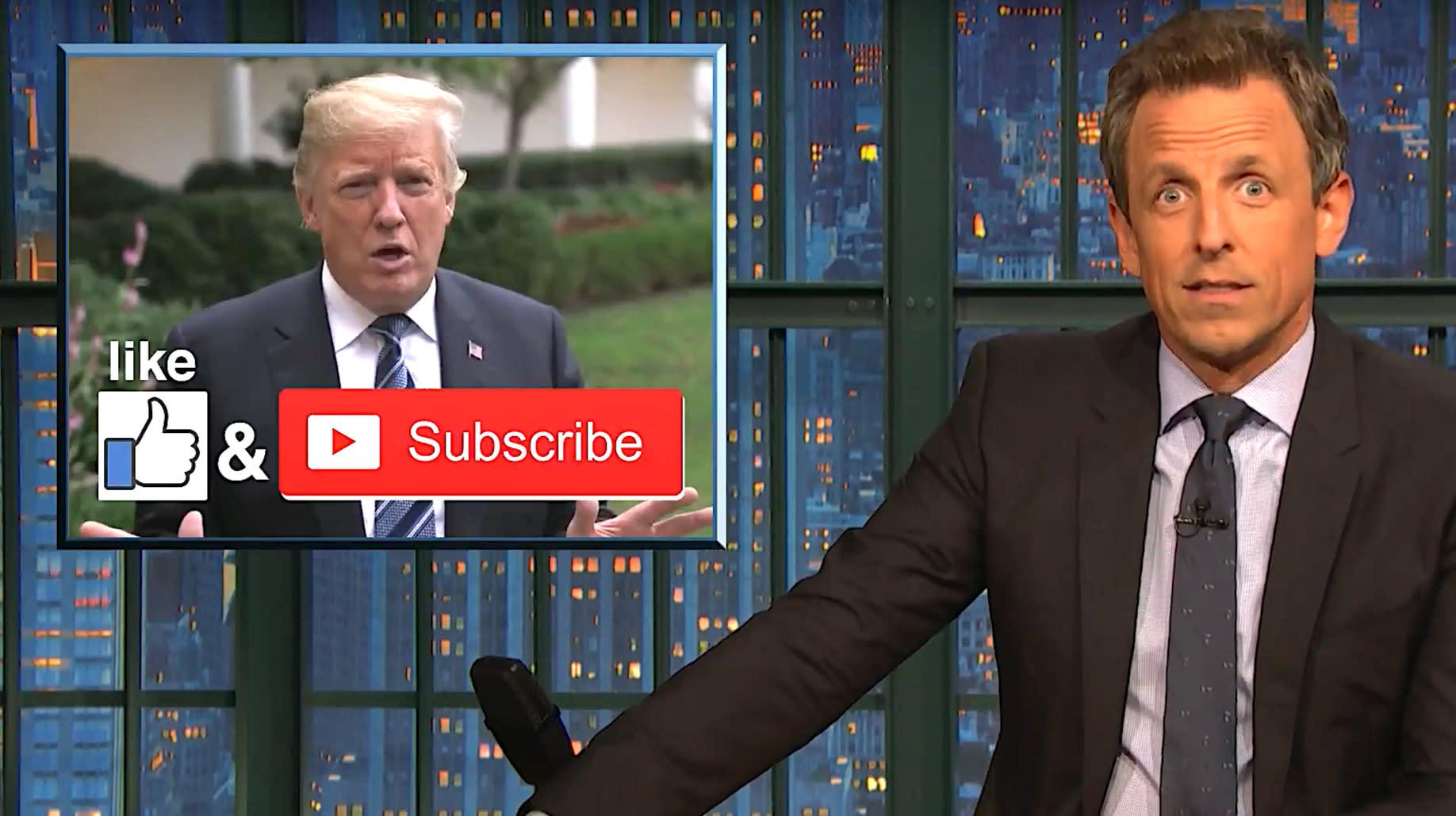 Seth Meyers Shreds 'Mid-Level' YouTuber Donald Trump Over Hurricane Florence Warning
