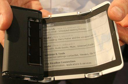Wistron: Readius-like ereader with pull-out flexible display launching in 2010