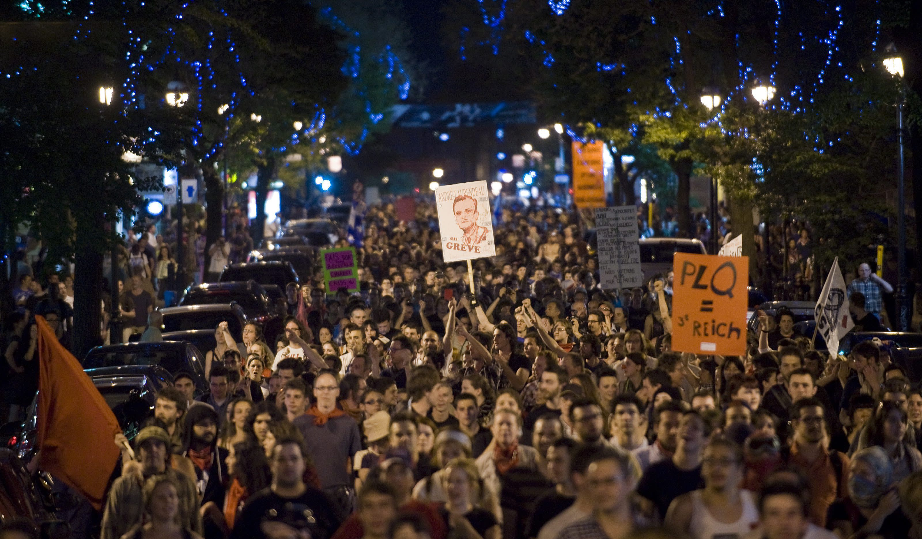 Quebec students send a message against austerity   The Star