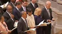 Obamas, Bidens attend national prayer service