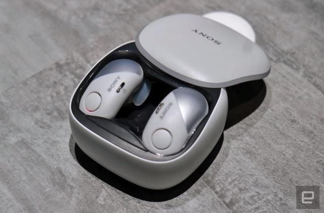 Save $80 on Sony's sporty WF-SP700N true wireless earbuds
