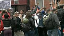 Baltimore Demonstrators Celebrate Charges Against Police Officers