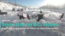 Blizzard causes snow day on B.C. ski resort