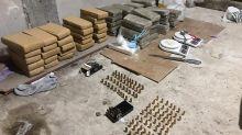 Acopio narco. Descubren más de 54 kilos de marihuana, cocaína y un arsenal de proyectiles en el Barrio 21-24