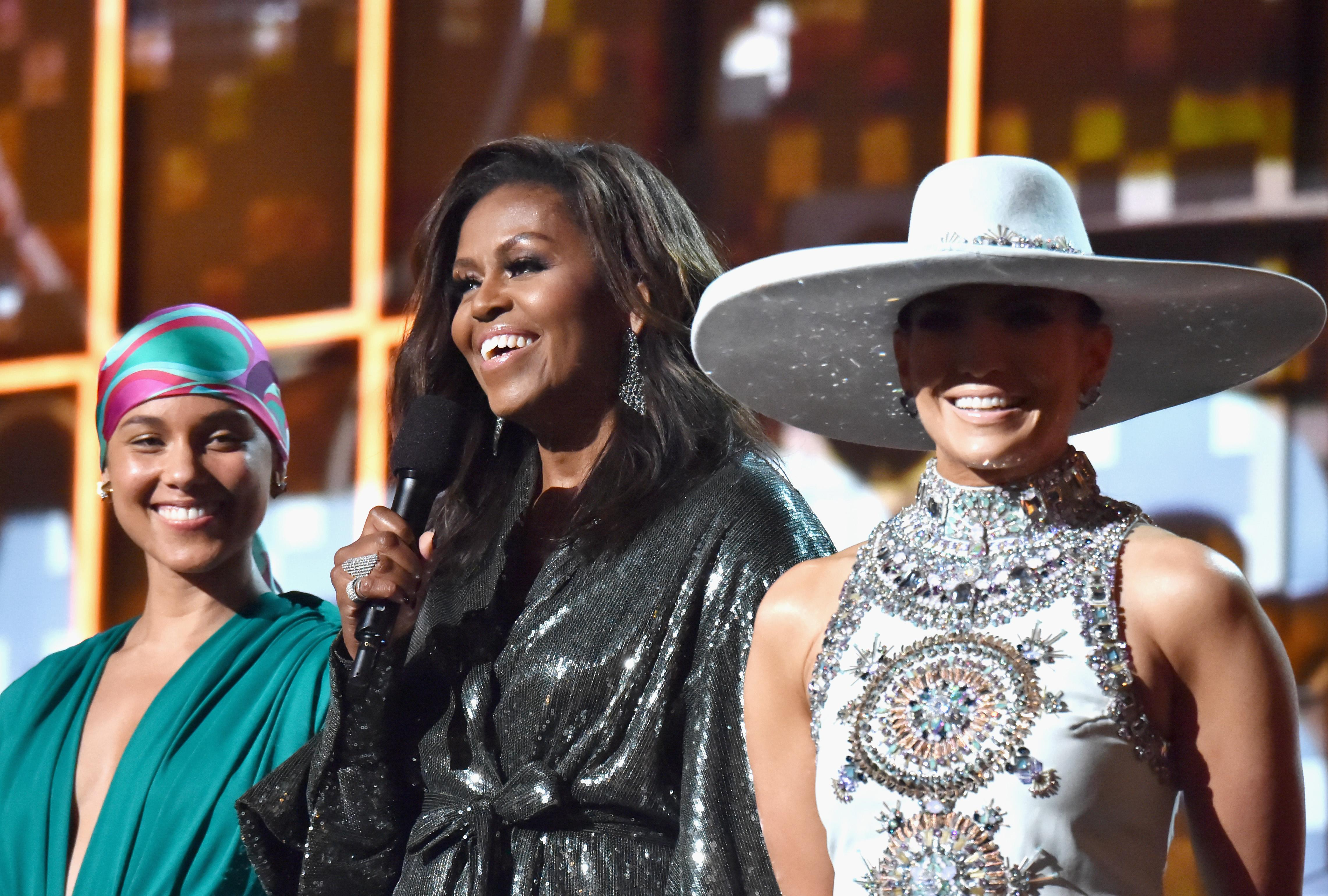 ca71265bb2386 Michelle Obama shares mom s brutal text about the Grammys