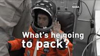 Scott Kelly's Luggage for a Year in Space