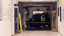 Teen crashes SUV into school — and gets praised for getting ACT exam canceled