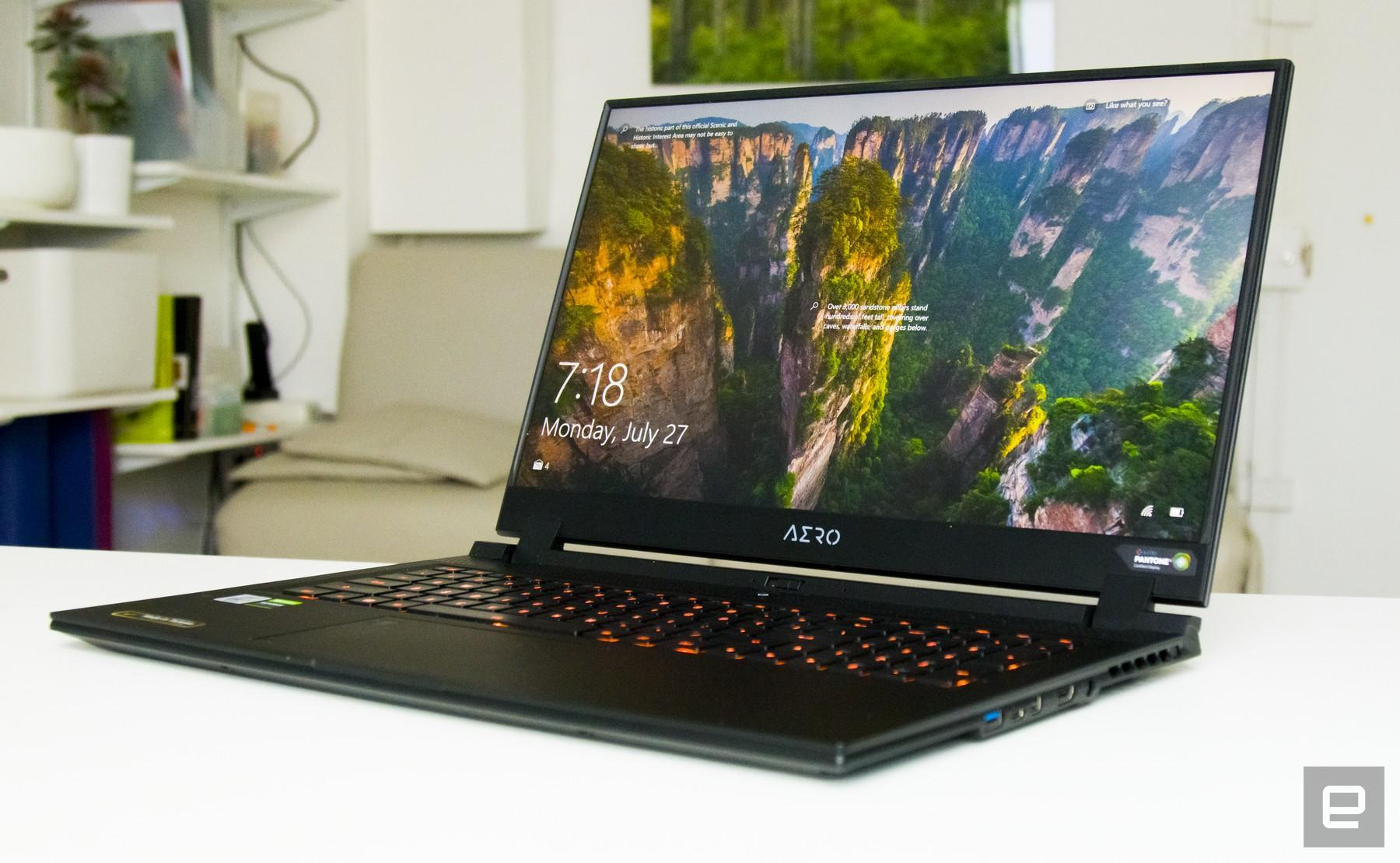 Gigabyte Aero 17 HDR XB content creation laptop