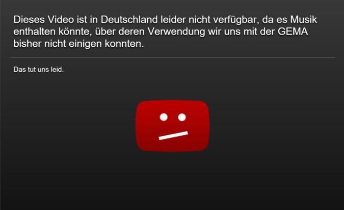 Gema vs. YouTube: Erneute Schlappe für die Rechteverwerter