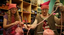 Women knit pink 'pussyhats' for rally after Trump inauguration