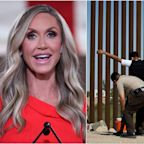 Lara Trump urges Americans living near to the southern border to 'arm up, get guns' and prepare to 'take matters into their own hands' against migrants