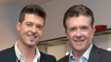 Robin Thicke and His Father Alan's Widow Celebrate Their Love for Late Actor After Judge Throws Out Singer's Lawsuit