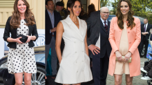 Why Meghan Markle and Kate Middleton Wear Shorter Dresses When They're Pregnant
