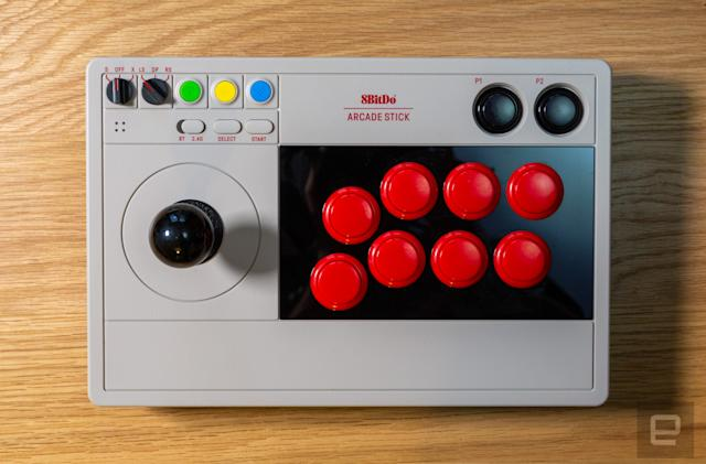 8BitDo's second arcade stick is moddable, stylish and versatile