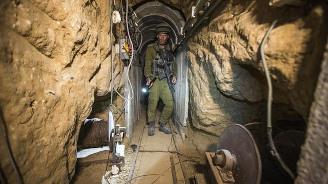 Israeli army shows tunnel destruction