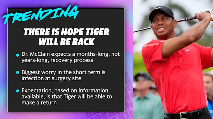 Tiger Woods' early prognosis from sports medicine doctor Dr. Rand McClain
