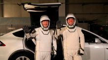 What do we know spacex's astronaut suits and the vehicle they use to travel to the launchpad; launch tonight at 2:00 am IST