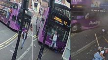 Watch: Shocking moment man gets mowed down by bus - but gets up and walks into pub
