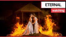 'You may now light the brides': Daredevil brides light their wedding dresses on fire during ceremony