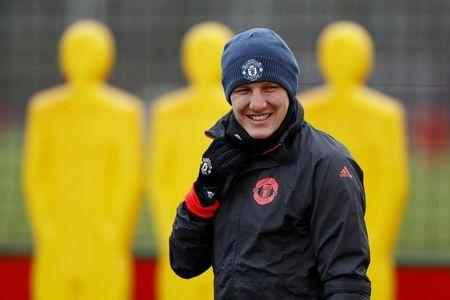 FILE PHOTO: Manchester United's Bastian Schweinsteiger during training