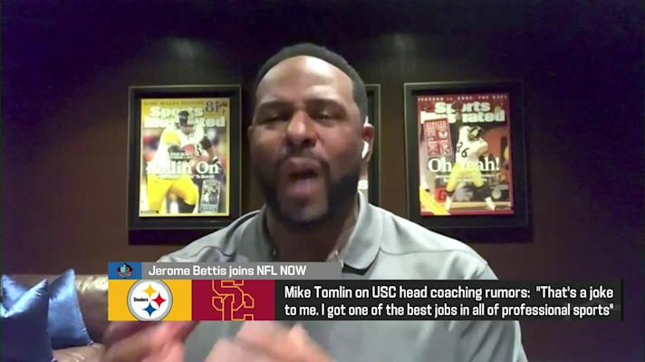 Jerome Bettis weighs in on Mike Tomlin's response to USC HC rumors
