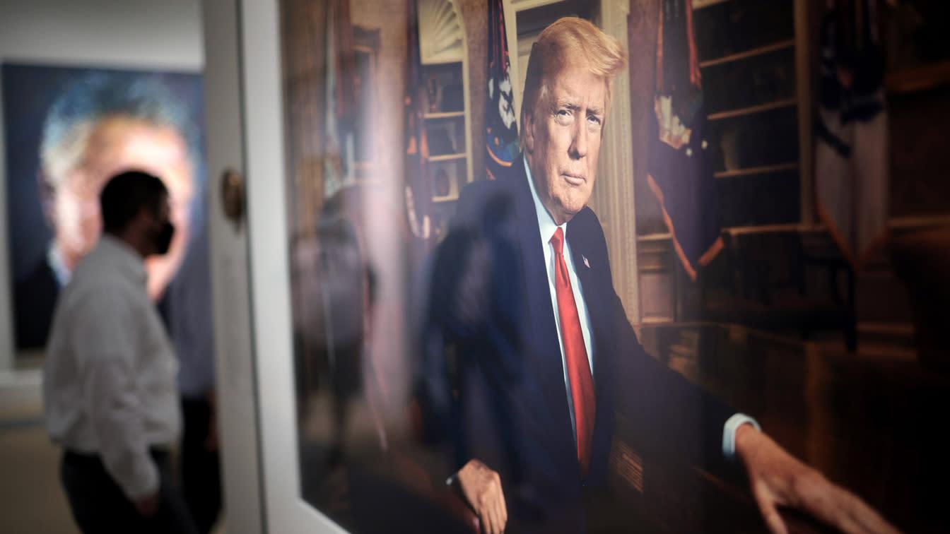 Trump portrait on display alongside Nixon's