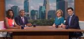 """The """"Saturday Night Live"""" cold open presented a parody titled """"Eye on Minnesota,"""" featuring a discussion about the current racial issues in America. (NBC)"""
