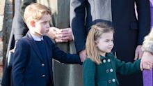 Prince William took Prince George and Princess Charlotte on a 'dress rehearsal' ahead of Sandringham church visit
