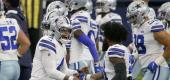 Cowboys celebrate win over Falcons. (Getty Images)