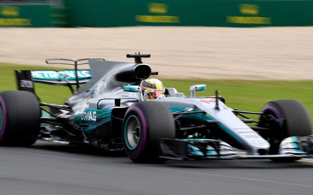 Hamilton during Practice 2 at Albert Park - AP