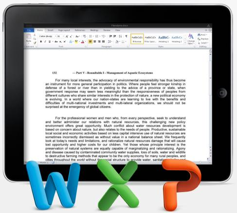 CloudOn offers Microsoft Office functionality for iPad, your parents will love it
