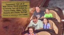 Man banned from Disney World for waving 'Trump 2020' sign on Splash Mountain
