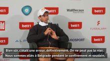 """Adria Tour - Thiem : """"Une énorme erreur"""""""