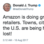 Today's charts: Trump attacks Amazon; Cisco, L Brands earnings preview