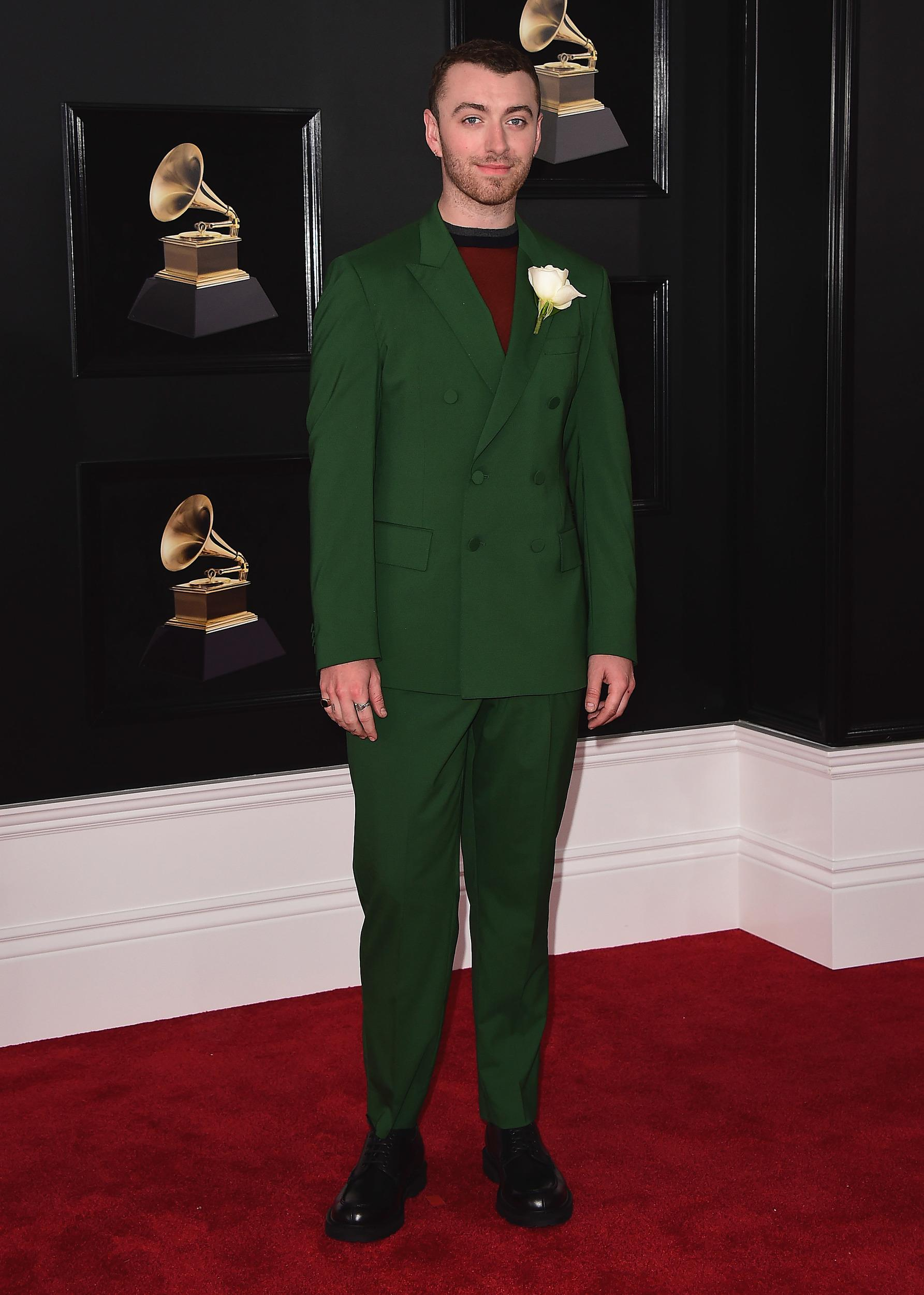 NEW YORK - JANUARY 28: Sam Smith at the 60th Annual Grammy Awards at Madison Square Garden on January 28, 2018 in New York City. (Photo by Scott Kirkland/PictureGroup)